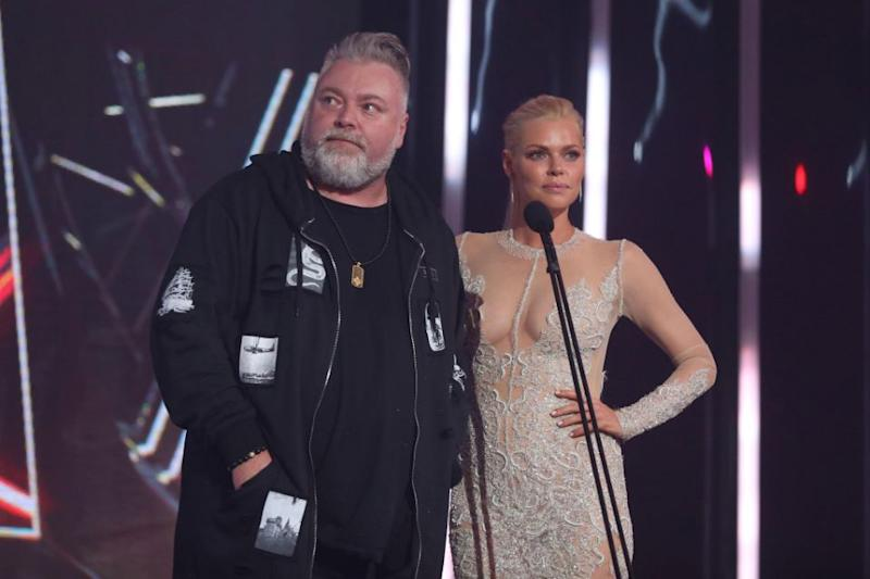 Sophie and Kyle, seen here at the 2016 ARIAs, have been friends for years. Source: Getty