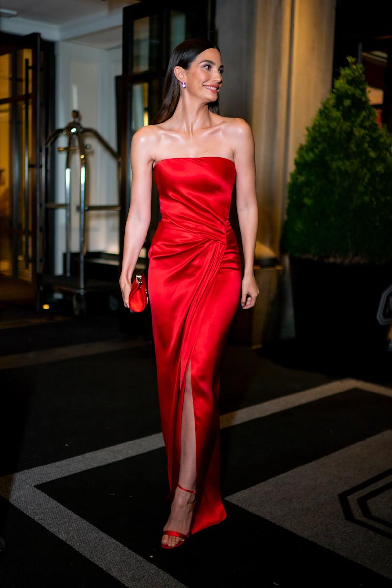 Lily Aldridge is seen in the Upper East Side on October 23, 2019 in New York City. Photo courtesy of Getty Images.