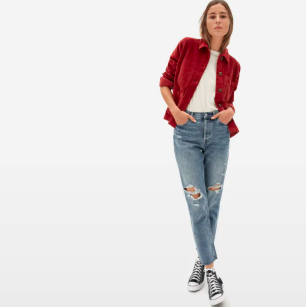 Everlane's new Corduroy Chore Jacket is a perfect for fall days.