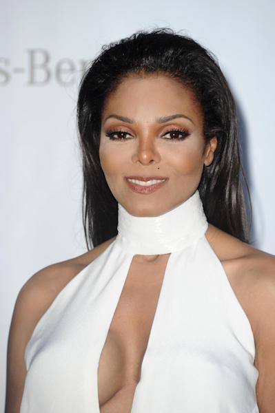 Janet Jackson arrives for the amfAR Cinema Against AIDS benefit at the Hotel du Cap-Eden-Roc, during the 65th Cannes film festival, in Cap d'Antibes, southern France, Thursday, May 24, 2012. (AP Photo/Jonathan Short)