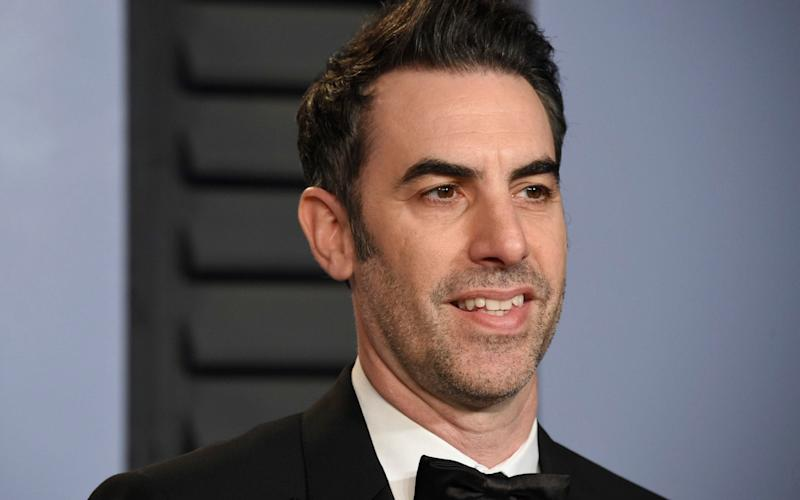 Sacha Baron Cohen pictured at the Vanity Fair Oscar party, March 2018 - Invision