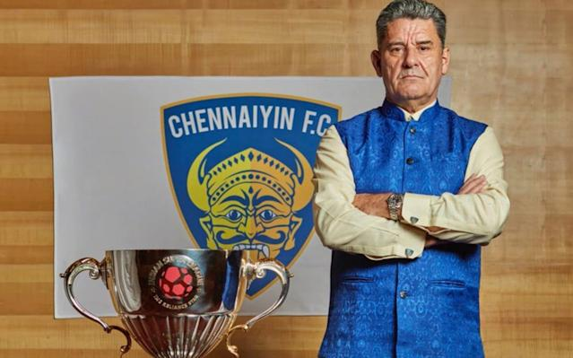 """Hands down the best football picture of the week is John Gregory posing with the Indian Super League trophy in traditional Tamil Nadu clothing. Why is he doing that, you ask? Because he's only the manager of Chennaiyin FC, who recently brought home the big cup to fortress Jawaharlal Nehru Stadium in Chennai. Since he hit the big time in the late 1990s, John's career has followed that well-trodden path from Aston Villa, to Derby County, QPR, to Maccabi Ahi Nazareth, F.C. Ashdod, FC Kairat, and then the most exotic of all, Crawley Town, before he slid into the managerial hotseat in Chennaiyin last year. With his famously progressive views on depression I could not and still cannot understand how someone so young, fit, handsome and wealthy can suffer from such an illness ... and of course art... What the f*** is art? A picture of a bottle of sour milk lying next to a smelly old jumper? To me it's a load of s***. I'd say football is art it is perhaps a little surprising that this proud son of Scunthorpe has chosen to broaden his horizons around the world. John in more traditional habitat as he signs George Boateng (left) and Najway Ghrayeb with Deadly Doug Credit: PA But then he is far from the only old skool gaffer yelling """"First post! First post!"""" at some terrified unfortunates in a language they do not speak somewhere hot, dusty, and requiring of jabs. Peter Reid The most Proper Football Man of all Proper Football Men, Reidy is most associated with Manchester City, and then Sunderland, where his Tall Man-Small Man, keep it simple, 26 pints of Four Star after the match approach worked really well for quite a while. Until it didn't. The Blue Monkey Magic had all but gone after spells at Leeds and Coventry, and with top-flight job offers not exactly flooding in, Reidy gave Chris Kamara's leg one last manly joshing squeeze, and took himself off to Bangkok. The local press loved him but thought he didn't smile enough, which seems odd, because he's a jovial fellow. Perhaps"""