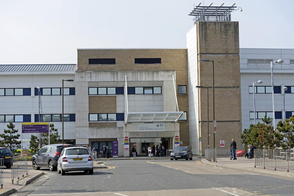 EDINBURGH, SCOTLAND - APRIL 18: The Royal Infirmary of Edinburgh, where changes to staff parking permit allocation have reportedly caused dissatisfaction, with some staff facing revocation of free parking permits, on April 18, 2019 in Edinburgh, Scotland. RIE is one of only three hospitals in Scotland where parking charges for visitors and some staff remain in force, following the Scottish Government scrapping charges at all other hospitals some years ago. (Photo by Ken Jack/Getty Images)