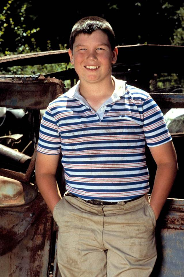 """As a chubby 12-year-old, Jerry O'Connell made his film debut in Rob Reiner's 1986 coming-of-age flick """"Stand By Me,"""" alongside River Phoenix, Corey Feldman, and Kiefer Sutherland. Columbia Pictures/Courtesy Everett Collection"""