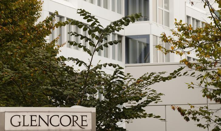 The Logo Of Commodities Trader Glencore Is Pictured In Front Companys Headquarters Baar