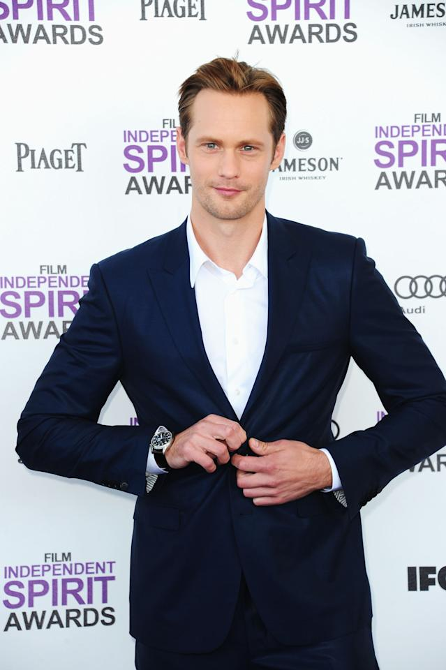 SANTA MONICA, CA - FEBRUARY 25:  Actor Alexander Skarsgard arrives at the 2012 Film Independent Spirit Awards on February 25, 2012 in Santa Monica, California.  (Photo by Alberto E. Rodriguez/Getty Images)