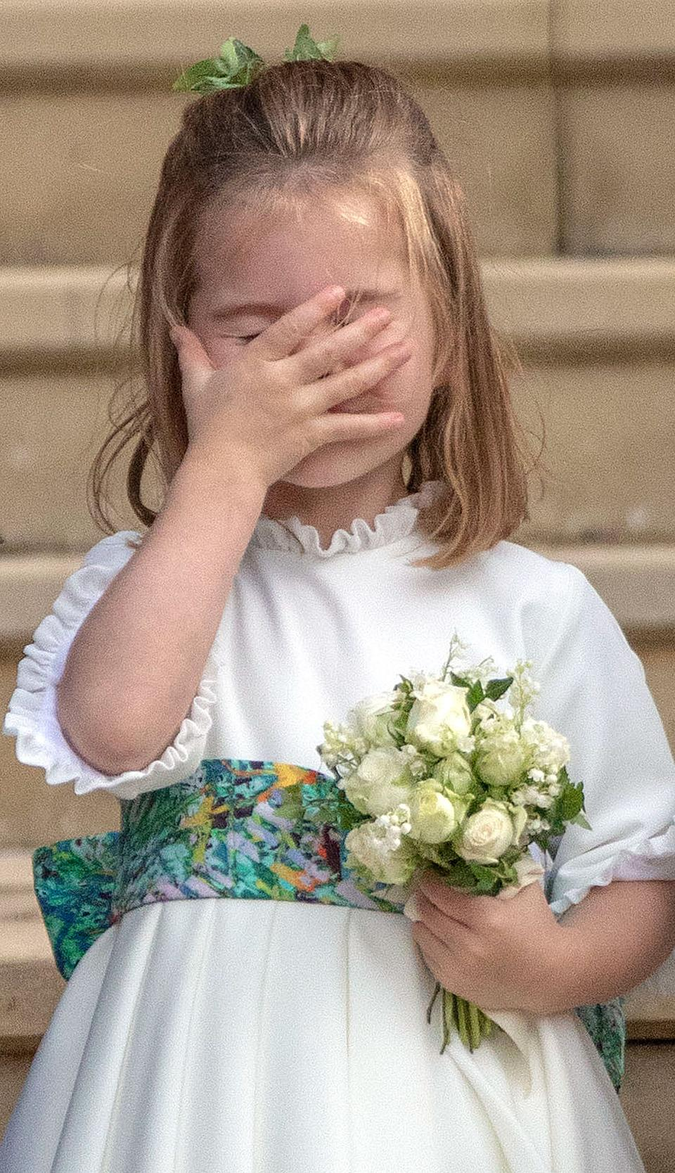 <p>We would love to know what she had spotted after the wedding of Princess Eugenie and Jack Brooksbank in October 2018. (Steve Parsons/AFP)</p>