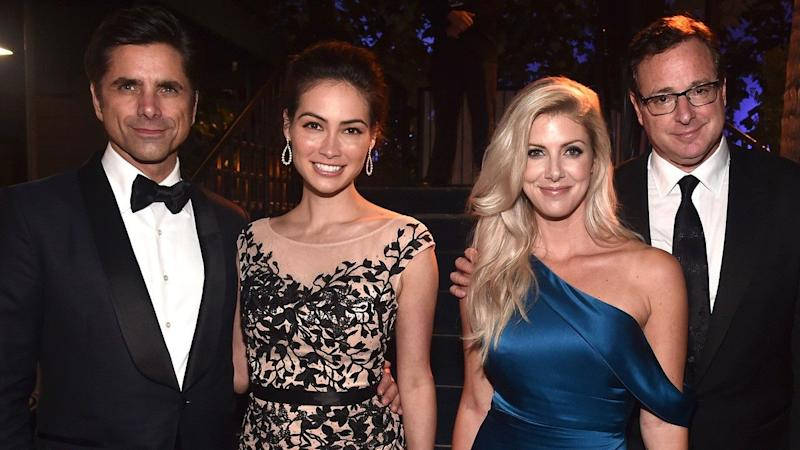 'Fuller House' Stars Bob Saget and John Stamos Enjoy a Double Date With Their Wives: Pic!