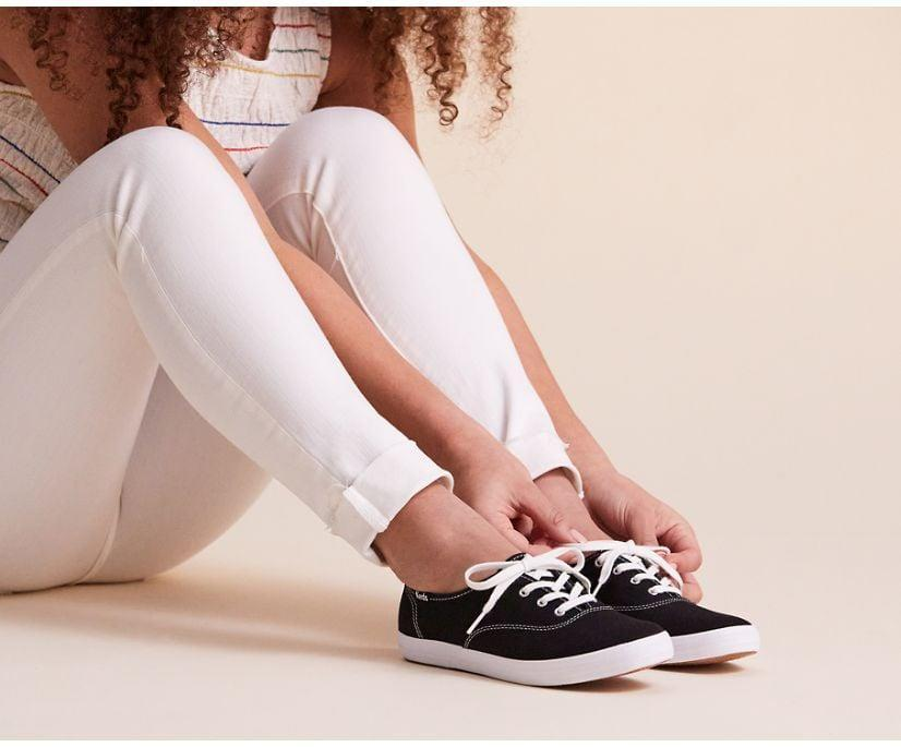 <p>This <span>Keds Washable Champion Feat. Organic Cotton</span> ($50) is made from a soft and breathable fabric that is better for the environment. You'll move with ease while wearing it out to hang out with friends or run errands.</p>