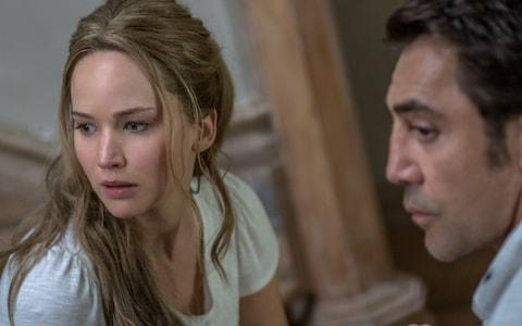 Javier Bardem and Jennifer Lawrence