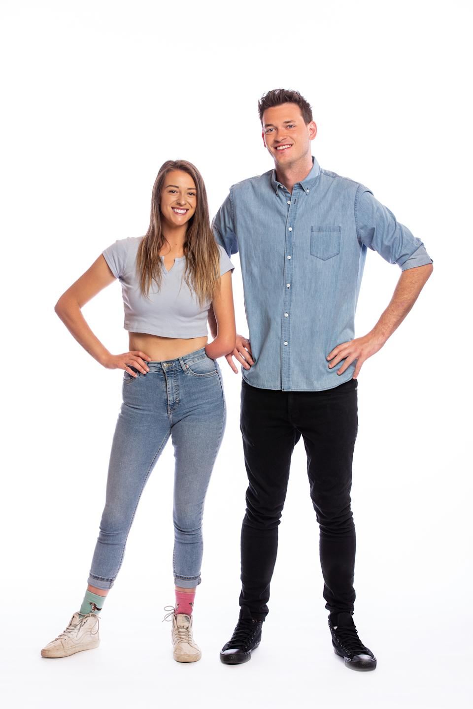 The Amazing Race Australia 2021 contestants Skye-Blue and Jake, VIC. Photo: Channel 10 (supplied).