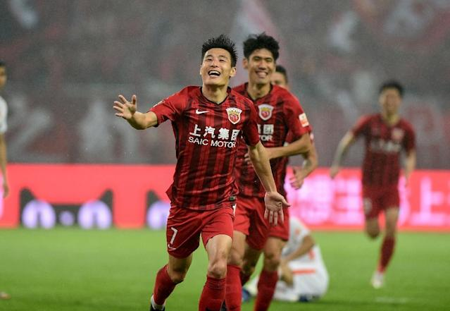 Prolific Chinese international Wu Lei made it 2-0 just after half-time, as Shanghai SIPG went on to win the Chinese Super League for the first time (AFP Photo/STR)