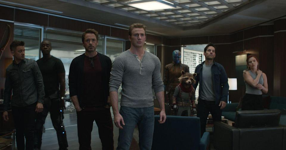 """<p>The culmination of all the groundwork laid by the 21 films that came before it, <em>Avengers: Endgame</em> features all the favorites in an inter-galactic, time-jumping battle to save the world after """"The Snap.""""</p><p><a class=""""link rapid-noclick-resp"""" href=""""https://www.amazon.com/Marvel-Studios-Avengers-Robert-Downey/dp/B07R21NC3J?tag=syn-yahoo-20&ascsubtag=%5Bartid%7C10055.g.29023076%5Bsrc%7Cyahoo-us"""" rel=""""nofollow noopener"""" target=""""_blank"""" data-ylk=""""slk:AMAZON"""">AMAZON</a> <a class=""""link rapid-noclick-resp"""" href=""""https://go.redirectingat.com?id=74968X1596630&url=https%3A%2F%2Fwww.disneyplus.com%2Fmovies%2Fmarvel-studios-avengers-endgame%2FaRbVJUb2h2Rf&sref=https%3A%2F%2Fwww.goodhousekeeping.com%2Flife%2Fentertainment%2Fg29023076%2Fmarvel-movies-mcu-in-order%2F"""" rel=""""nofollow noopener"""" target=""""_blank"""" data-ylk=""""slk:DISNEY+"""">DISNEY+</a></p>"""