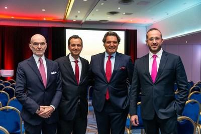 Markus Lehner, Principal, Markus Lehner Family Office, Monaco and Summit Chairman; SVG Hon. Consul Giuseppe Ambrosio, President of the Monaco Single & Multi Family Office Association; Anthony Ritossa, Chairman of Ritossa Family Office; Hussein Sayed, CNBC Arabia Anchor and Dubai Summit Chairman.