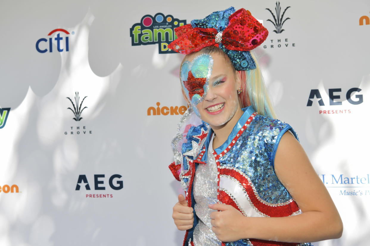 JoJo Siwa says she's trying to get a kissing scene pulled from upcoming film. (Photo: Getty Images)