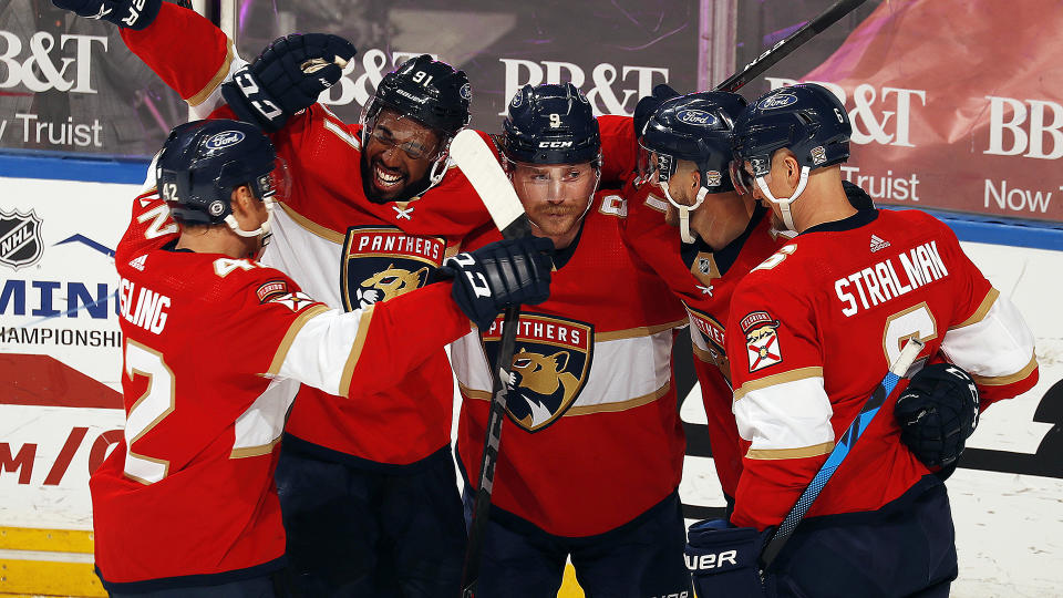 Go get yourself a piece of the Panthers in fantasy hockey. (Photo by Eliot J. Schechter/NHLI via Getty Images)