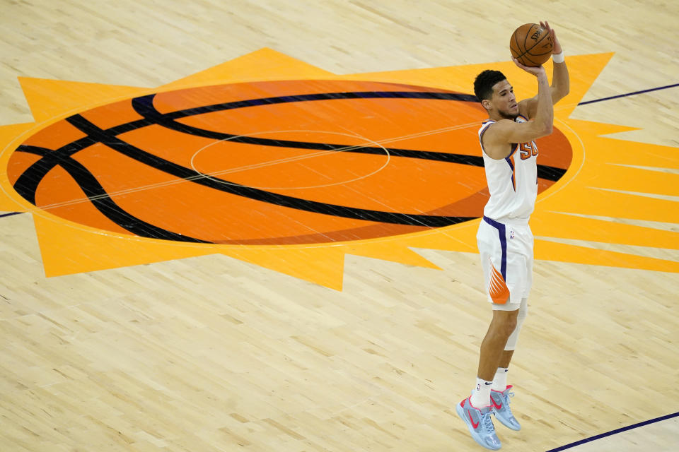 Devin Booker。(AP Photo/Matt York)