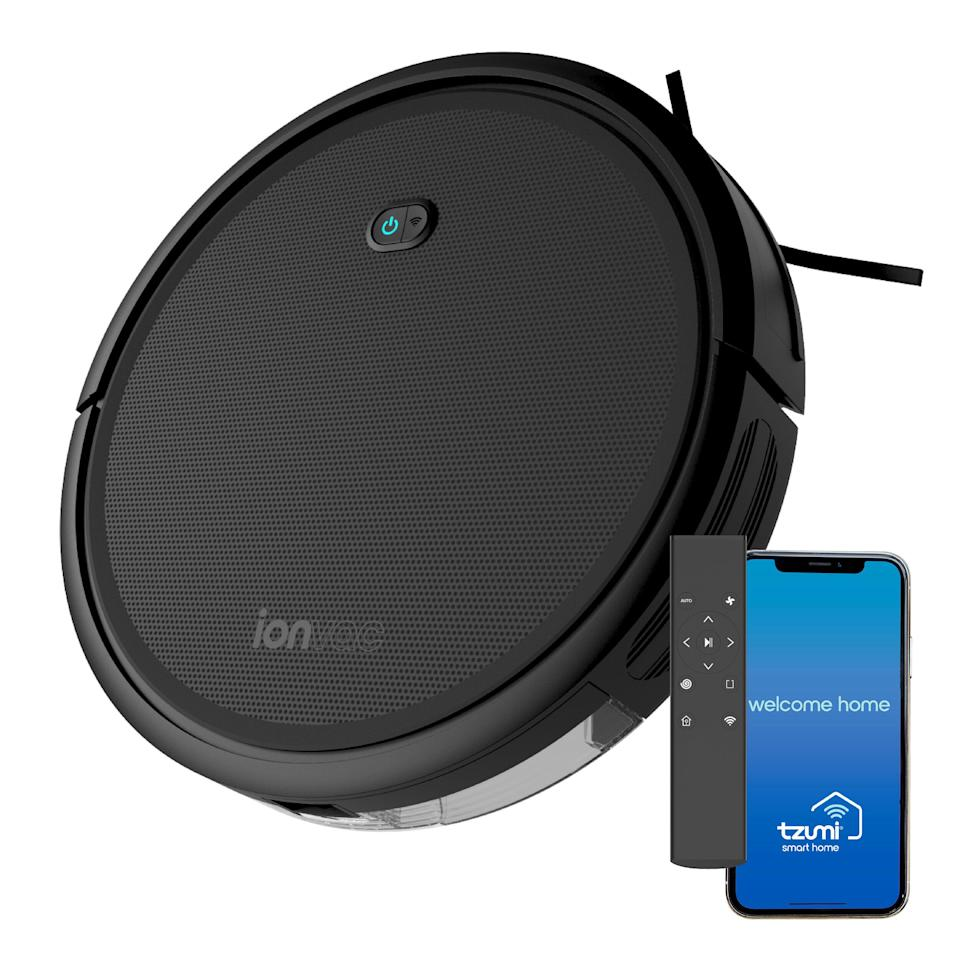 "If you've always wanted a robot vacuum but haven't loved how <i>much</i> they really are, this one is marked down to just under $100 right now. You can program it through a remote, an app or Google Assistant. This smart vacuum automatically knows when to charge itself and has four different cleaning modes. <a href=""https://goto.walmart.com/c/2055067/565706/9383?u=https%3A%2F%2Fwww.walmart.com%2Fip%2FionVac-Robot-Vacuum-Powerful-2000Pa-Suction-Wi-Fi-Connected-Hardwood-Medium-Pile-Carpet-Floor-Cleaning-Self-Charging-Smart-Vacuum-Controlled-Via-Mobi%2F457278639&subid1=5&subid2=primedaywalmartdeals&subid3=primeday20"" target=""_blank"" rel=""noopener noreferrer"">Originally $180, get it now for $99 at Walmart</a>."