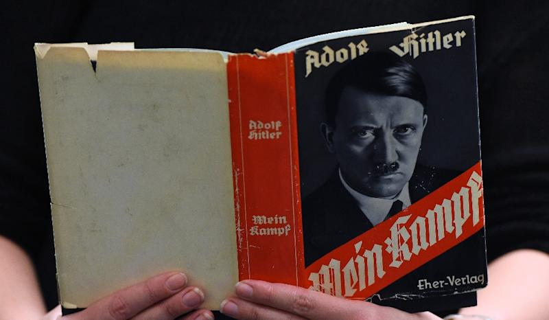 """Mein Kampf"" outlines Adolf Hitler's ideology that formed the basis for Nazism (AFP Photo/TOBIAS SCHWARZ)"