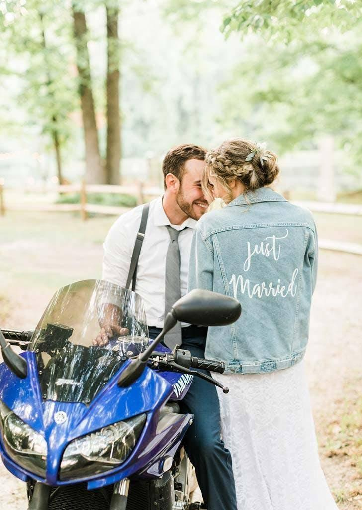 The couple only spent $2,000 on the entire wedding (Danielle Riley Photography)