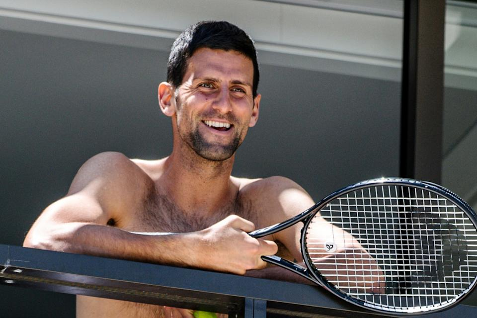 <p>Novak Djokovic is currently quarantining at a hotel in Adelaide</p> (AFP via Getty Images)