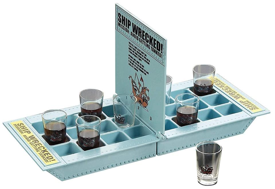 <p>Battleship is a classic family board game. Consider this <span>Fairly Odd Novelties Take Your Shots Into Battle Shipwreck Drinking Game</span> ($16) the adult version. It'll get a laugh and a lot of use this holiday season.</p>