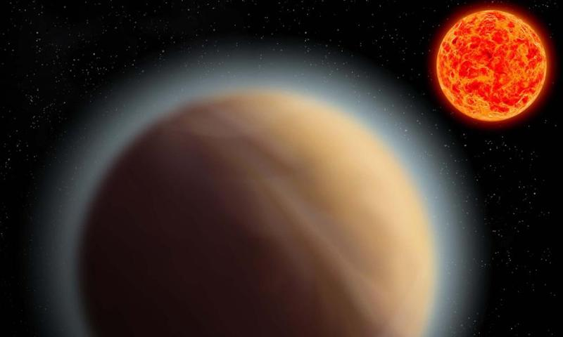"One theory is that GJ 1132b is a ""water world"" with an atmosphere of hot steam."