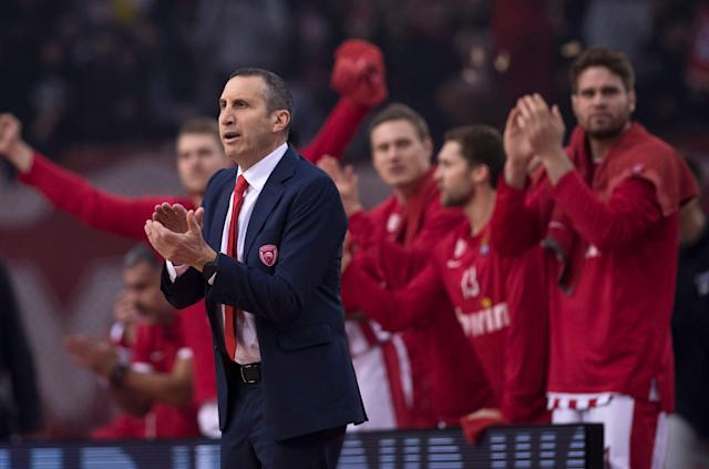"A Greek basketball commentator believes former NBA coach and current Olympiakos coach David Blatt was lying about the circumstances of a Greek League game because ""he has Jewish blood."" (AP/Petros Giannakouris)"