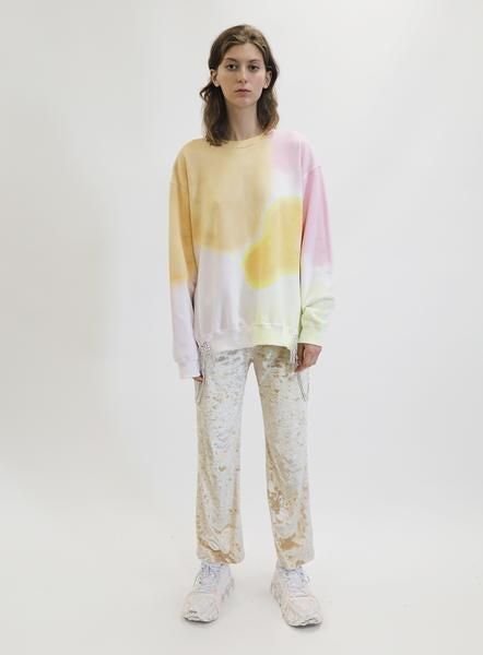 """<h2>Totally Chill Leisurewear<br></h2>It's no secret that '70s-style tie-dye has been back in vogue for some time now. But this season's selection of crewnecks, bike shorts, dresses, and more — all available in the groovy print — are better than ever before. <br> <br> <strong>Collina Strada</strong> Sunset Watercolor Side Curtain Crew, $, available at <a href=""""https://go.skimresources.com/?id=30283X879131&url=https%3A%2F%2Fcollinastrada.com%2Fcollections%2Ffrontpage%2Fproducts%2Fsunset-watercolor-side-curtain-crew"""" rel=""""nofollow noopener"""" target=""""_blank"""" data-ylk=""""slk:Collina Strada"""" class=""""link rapid-noclick-resp"""">Collina Strada</a>"""