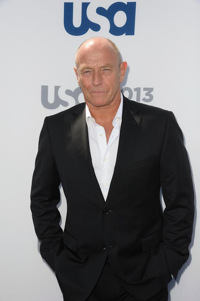 NEW YORK, NY - MAY 16: Corbin Bernsen attends USA Network 2013 Upfront Event at Pier 36 on May 16, 2013 in New York City. (Photo by Dave Kotinsky/Getty Images)