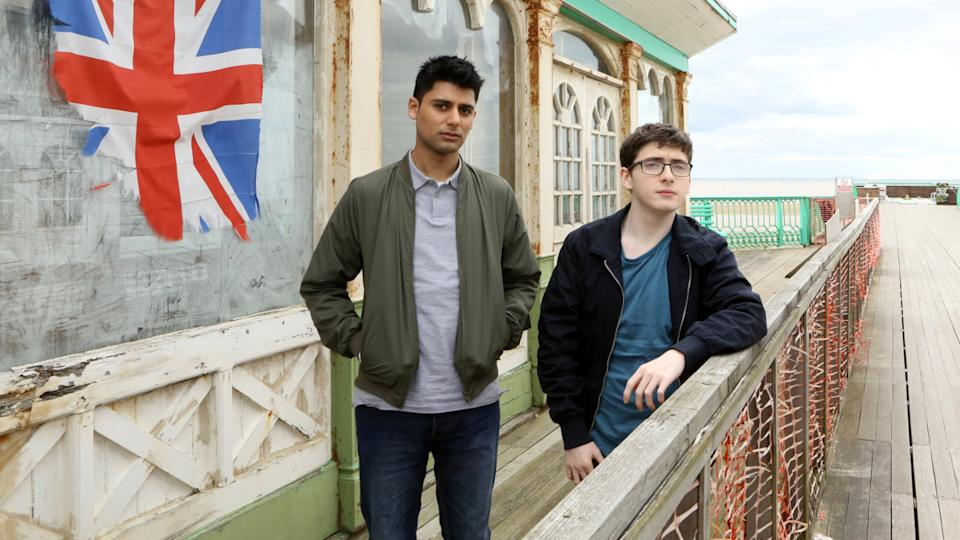 Antonio Aakeel and comedian Jack Carroll in British comedy 'Eaten By Lions'. (Credit: Lightbulb Film Distribution)