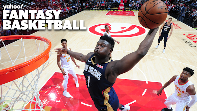 "ATLANTA, GA - OCTOBER 7: Zion Williamson #1 of the New Orleans Pelicans dunks the ball against the <a class=""link rapid-noclick-resp"" href=""/nba/teams/atlanta/"" data-ylk=""slk:Atlanta Hawks"">Atlanta Hawks</a> during a pre-season game on October 7, 2019 at State Farm Arena in Atlanta, Georgia. NOTE TO USER: User expressly acknowledges and agrees that, by downloading and/or using this Photograph, user is consenting to the terms and conditions of the Getty Images License Agreement. Mandatory Copyright Notice: Copyright 2019 NBAE (Photo by Scott Cunningham/NBAE via Getty Images)"