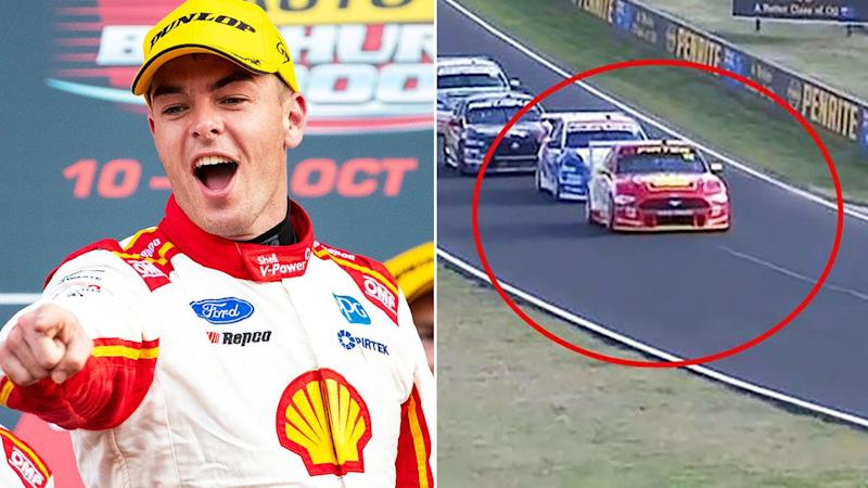 Scott McLaughlin and Fabian Coulthard, pictured here at the Bathurst 1000.