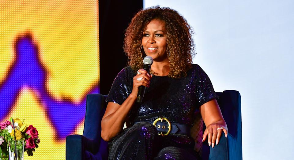 Michelle Obama has opened up about her worries just before her best-selling book Becoming was released. (Getty Images)