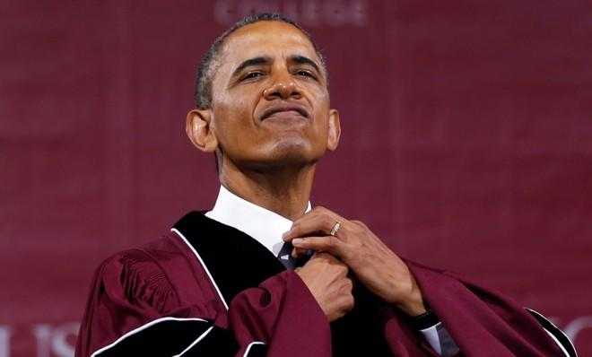 President Obama gave the commencement address at Morehouse College.