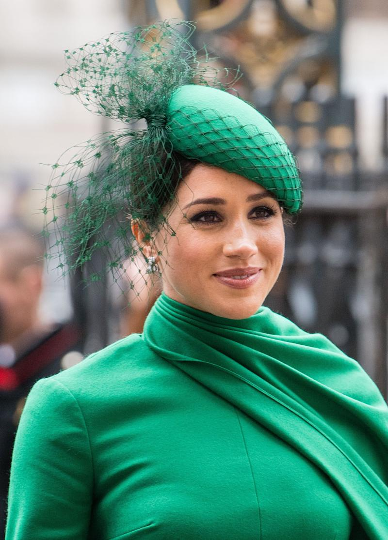 The Duchess of Sussex attends the Commonwealth Day Service on Monday. (Photo: Samir Hussein via Getty Images)