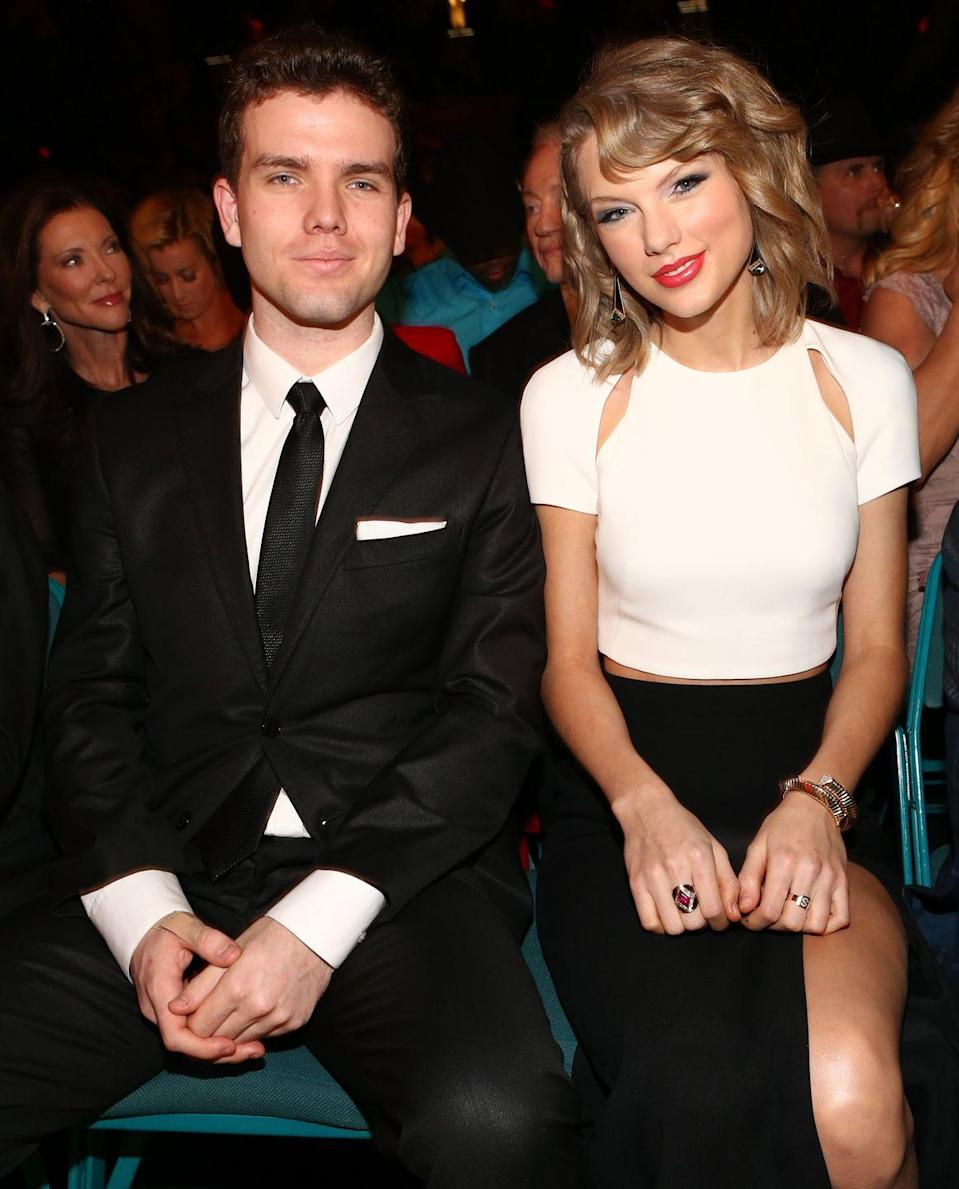 """<p>Taylor Swift didn't grow up on that """"Christmas Tree Farm"""" alone. Beside her was younger brother, Austin Swift. Although they're three years apart, between their noses and almond-shaped eyes, they almost look like fraternal twins. </p>"""
