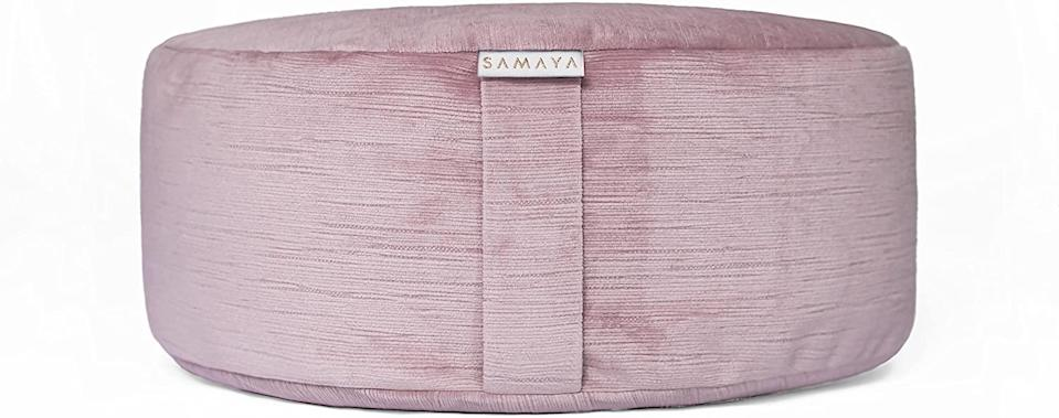 """<h2>Samaya Meditation Cushion</h2> <br>If the trendy mom in your life doesn't already have a """"zen den"""" in their house, help get them started with this meditation cushion.<br><br><strong>Samaya</strong> Meditation Cushion, $, available at <a href=""""https://www.amazon.com/SAMAYA-Meditation-Cushion-Buckwheat-Designer/dp/B07NB1LCJ4/ref=sr_1_1"""" rel=""""nofollow noopener"""" target=""""_blank"""" data-ylk=""""slk:Amazon"""" class=""""link rapid-noclick-resp"""">Amazon</a><br>"""