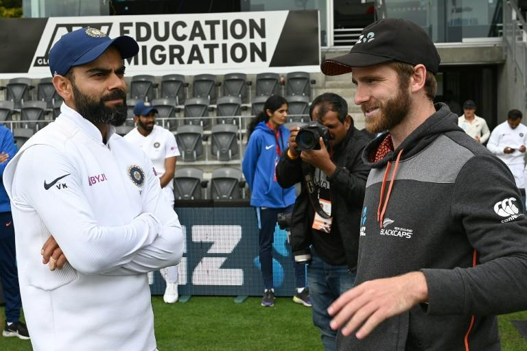 India captain Virat Kohli (left) and his New Zealand counterpart Kane Williamson will go head to head in the World Test Championship final