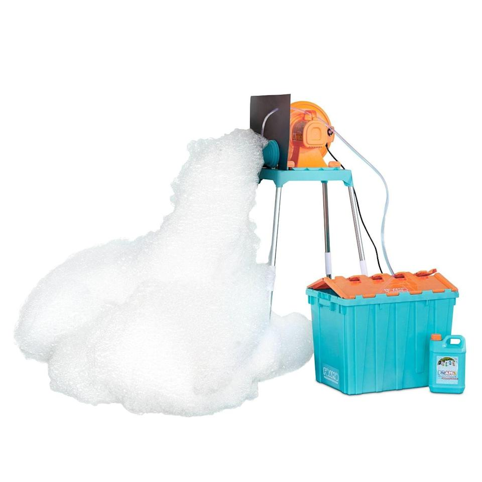 <p>Have the coolest house on the block with this <span>Little Tikes Foamo Foam Machine</span> ($180), which makes tons of non-toxic foam when you add water. Cover your backyard in foam and let the kids have a blast playing in their swimsuits.</p>