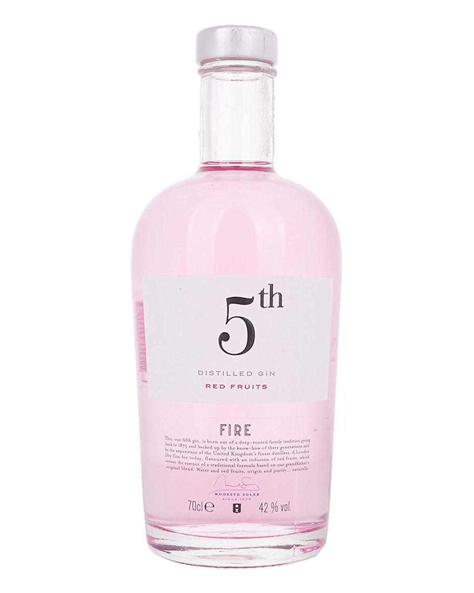 """<p>This fruit gin is aromatised with the flavours of red berries and has a light red colouring. </p><p><strong><strong>The Bottle Club</strong>, 5th Gin, £29.99</strong> </p><p><a class=""""link rapid-noclick-resp"""" href=""""https://go.redirectingat.com?id=127X1599956&url=https%3A%2F%2Fwww.thebottleclub.com%2Fproducts%2F5th-gin-fire-70cl&sref=https%3A%2F%2Fwww.delish.com%2Fuk%2Fcocktails-drinks%2Fg29069585%2Fflavoured-gin%2F"""" rel=""""nofollow noopener"""" target=""""_blank"""" data-ylk=""""slk:BUY NOW"""">BUY NOW</a></p>"""