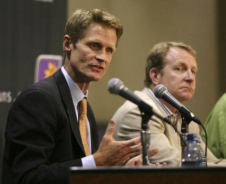 Kerr speaks after being named as Phoenix Suns President of Basketball Operations and General Manager during a news conference in Phoenix
