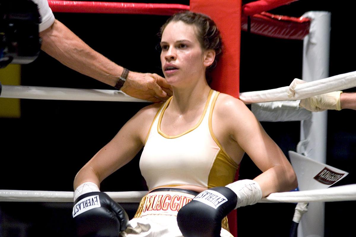 "For her Oscar-winning ""Million Dollar Baby"" role, Hilary Swank added 19 pounds of muscle by eating every hour and a half and training for four hours a day, six days a week."