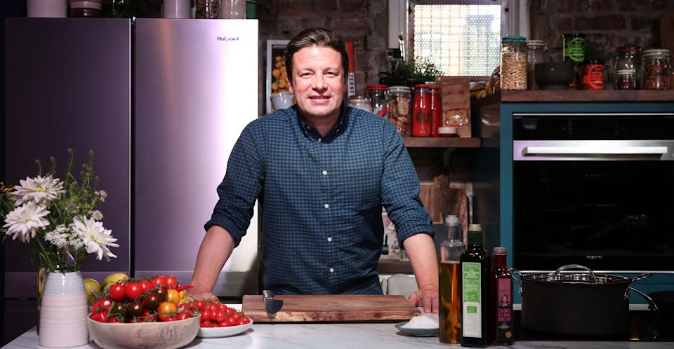 Jamie Oliver's in the kitchen again. (Channel 4)