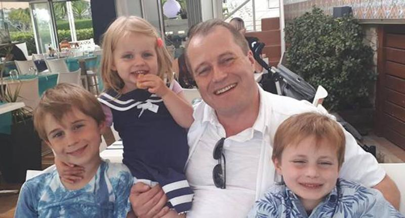 Andrew McGinley pictured with his three young children Conor, Carla and Darragh, who were tragically found dead. Source: Garda Press Office
