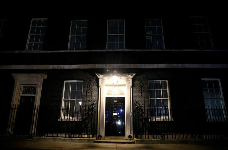 10 Downing Street after British PM Johnson was taken into the intensive care unit in hospital