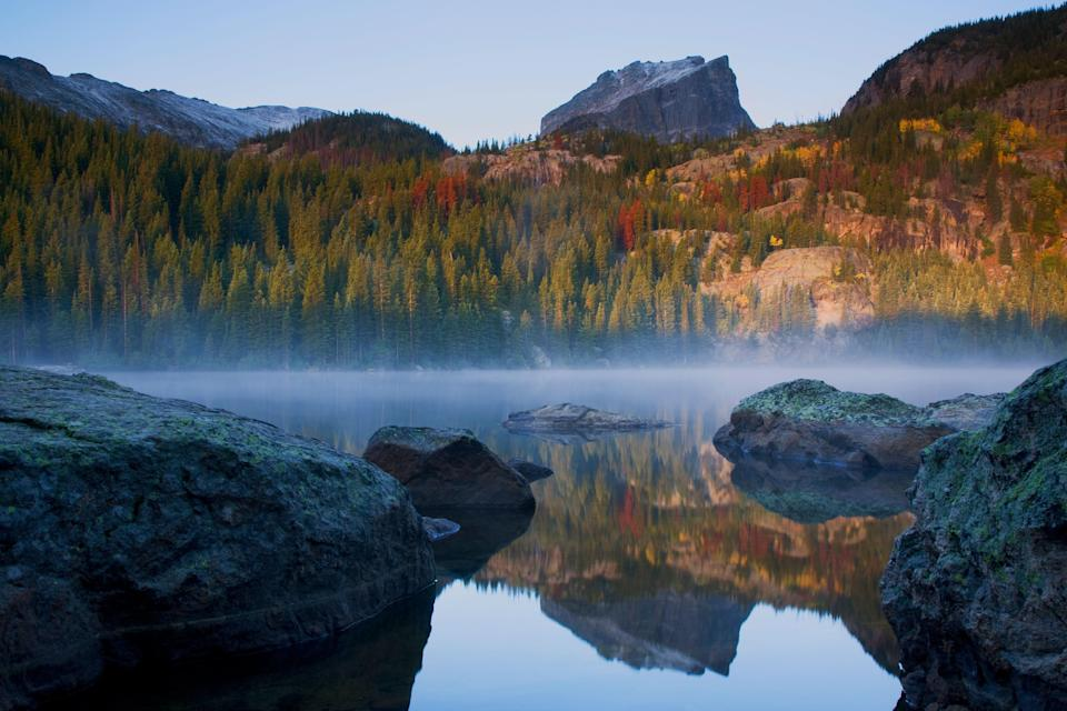 <p><strong>Best camping in Colorado:</strong> Moraine Park Campground, Rocky Mountain National Park</p> <p>Tucked into an elk-filled valley near attractions like Bear Lake and Glacier Gorge, this high-altitude getaway is ideal for view-seekers and avid hikers. Come for the year-round availability, stay for the jaw-dropping Rocky Mountain sunsets.</p>