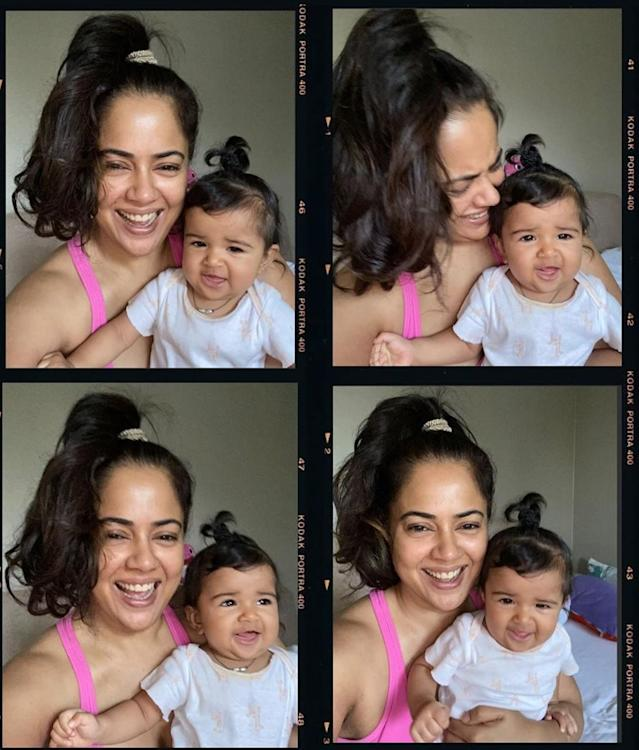 Its been a while since we saw the <em>Maine Dil Tujhko Diya </em>actress onscreen. And that's because she is super busy playing mom to her two adorable children, the daughter being the younger was born in July 2019. Missed the special day by 2 months last year, Nyra and mommy Sameera marked May 10th, 2020 as their first Mother's Day together.