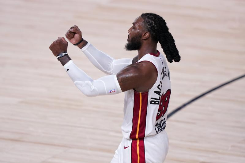 Forward Jae Crowder (99) and the Miami Heat are up 2-0 on the Celtics in the Eastern Conference finals. (AP Photo/Mark J. Terrill)