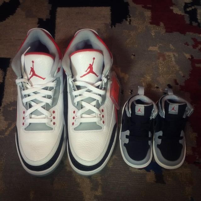 """<p>The singer shared a photograph of baby trainers next to a pair of her husband Tim Weatherspoon's shoes.</p><p>'I'll be stuntin like my daddy....,' the Destiny's Child star captioned the photo. Her child Titan was born in November 2014.<br></p><p><a href=""""https://www.instagram.com/p/pFNRRiv-bB/?utm_source=ig_web_copy_link"""" rel=""""nofollow noopener"""" target=""""_blank"""" data-ylk=""""slk:See the original post on Instagram"""" class=""""link rapid-noclick-resp"""">See the original post on Instagram</a></p>"""